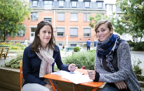 deux jeunes chercheuses de l'ESPCI