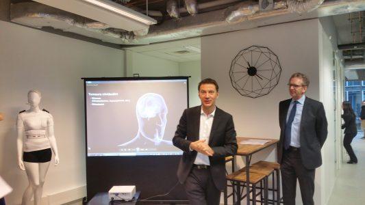 Frédéric Sottilini, pdg de CarThera et Alixis Brice, directeur de l'ICM.