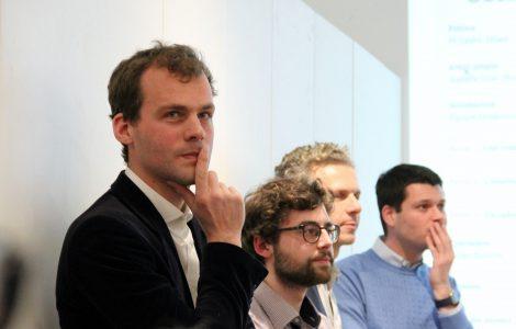 de gauche à droite,Jean-Frédéric Petit-Nivard, (..), Gilles Babinet et Olivier de Fresnoye