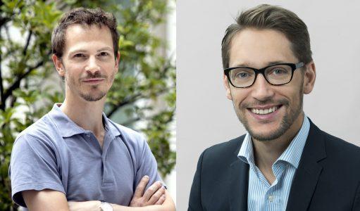 Le binôme: Nicolas Manel, à gauche, et Sylvain Carlioz, à droite. Crédit Uriel Chantraine/Curie