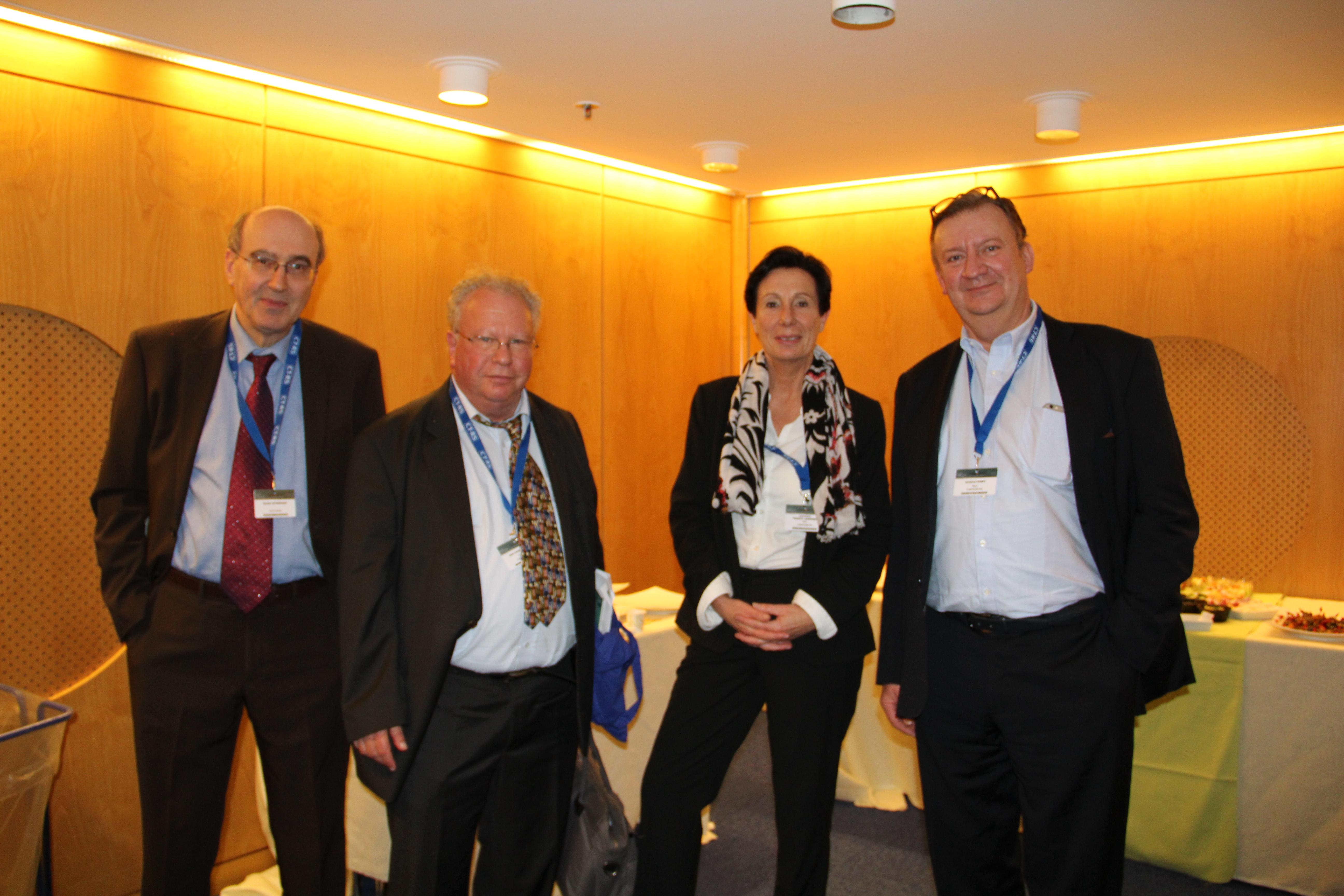 Jean-Pierre Mandel (Fondation Maladies Rares), Laurence Thiennot-Herment (AFM-Téléthon), Alain Ferry (C) crédit Thérèse Bouveret