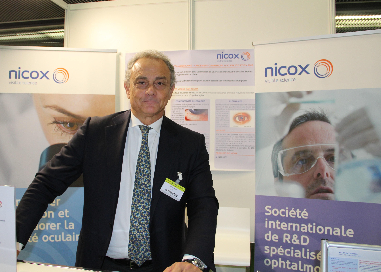 Michele Garulfi, PDG de Nicox - crédit Th. Bouveret